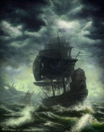 It's been stormy sailing... Image: Pirate In The Storm by Peter Concept